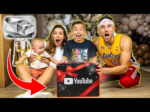 OPENING Our 10M Subscriber PLAY BUTTON!   The Royalty Family