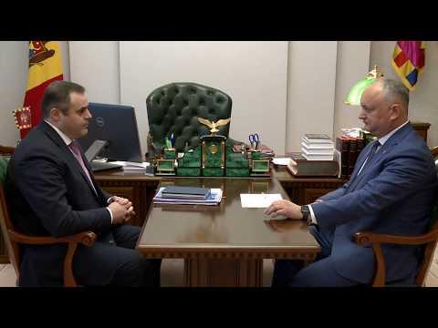 Президент Республики Молдова провел встречу с председателем правления  АО «Молдовагаз»