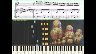 Kalinka - Russian folk dance (piano tutorial)(Ноты, Видеоурок)