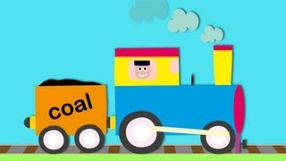 Let's build...a Steam Train. Learn about train parts.  Train video for children&toddlers.