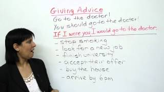 How to give advice, Polite English