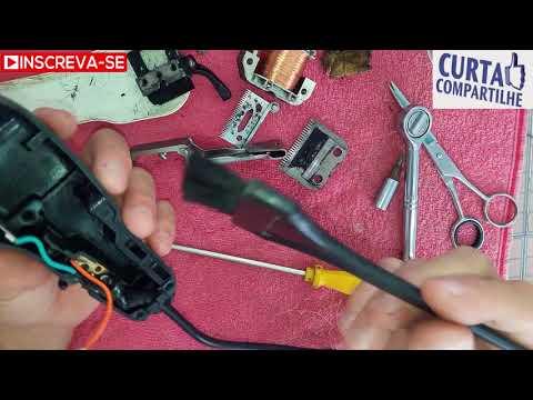 Limpeza e desmontagem maquina de corte de cabelo