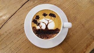 Video How To LatteArt: A Sunset Tree MP3, 3GP, MP4, WEBM, AVI, FLV Juni 2018