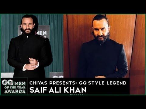 GQ Awards 2018 | Saif Ali Khan Nawabi Style On Red