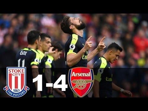 Stoke City vs Arsenal 1 4 - Highlights & Goals | EPL 13 May 2017