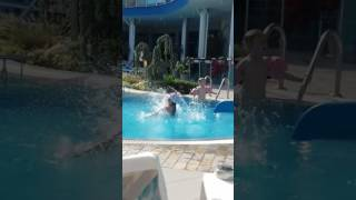 First Swim In The Pool Armbands Required 3 Year Old Daughter Bluebay Hotel