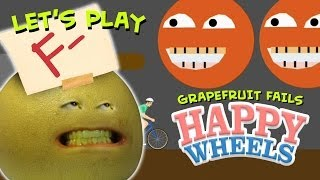 Annoying Orange - Let's Play Grapefruit Fails at Happy Wheels
