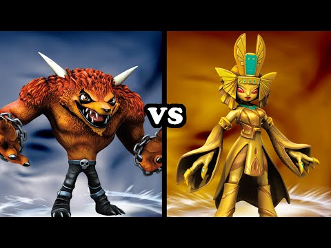 Skylanders Trap Team - Wolfgang VS Golden Queen