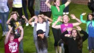 Goldeyes Flashmob in support of Move 'N Groove 2011 by Media 1 Productions Winnipeg