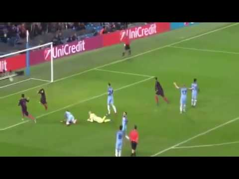 Manchester City 0- 1 Barcelona Goal Lionel Messi