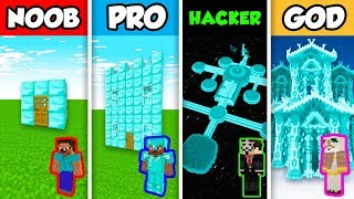 Minecraft Noob Vs Pro Vs Hacker Vs God Diamond House In Minecraft Animation Minecraftvideos Tv