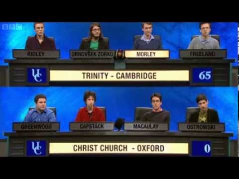 oxford - The third of the first round matches in this year's University Challenge (Series 43). Hope you enjoy it! I do not own this video. No copyright infringement i...