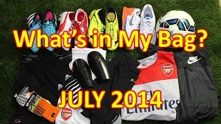 What's In My Soccer Bag - July 2014