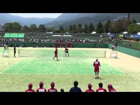 14 全国中学校ソフトテニス大会 男子 2回戦 7-2