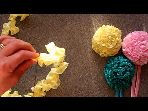 crafty - Learn how to make a Ribbon Carnations with Ali from Crafty Ribbons. NEW video out - How to make a button and ribbon necklace http://www.youtube.com/watch?v=_...