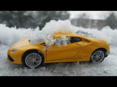 Cars for Kids riding through the Snow Video for Kids