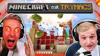 Ich sprenge TRYMACS LIEBLINGSFARM (weil sie sinnlos ist lol) - Minecraft mit Trymacs