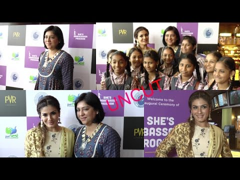 UNCUT - Raveena Tandon At Launch Of New Initiative She's Ambassador Program