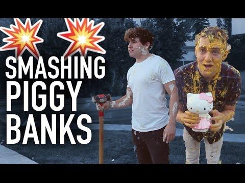 smashing - We just wanted to smash some piggy banks... Joey // Joey's Video - https://www.youtube.com/watch?v=QiLxQUNP5aY&feature=youtu.be Twitter - http://twitter.com/...