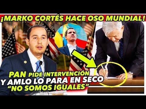 AMLO ridiculiza a Marko Cortés a nivel MUNDIAL por llamar a USA a intervenir
