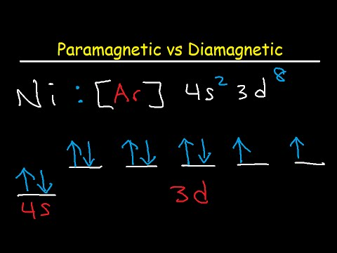 Paramagnetic vs Diamagnetic - Paired vs Unpaired Electrons - Electron Configuration