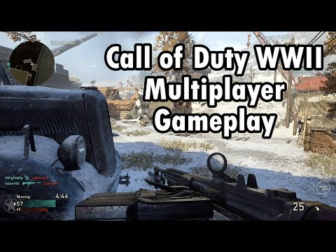 CALL OF DUTY WWII - Primeira Partida no Multiplayer! (PS4 Pro Gameplay) (видео)
