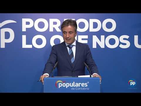 Movellán destaca el compromiso del PP con Cantabria y dice que la región no debe nada a Sánchez