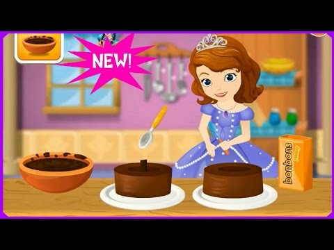 Watch & Learn With Sofia Cooking Princess Cake Game Review-Cooking Games Tutorials