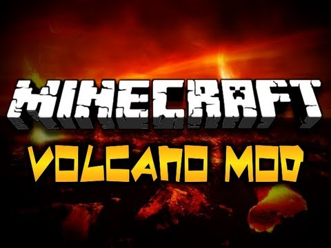 Minecraft Volcano Mod - EXPLODING VOLCANIC CRATERS (HD)