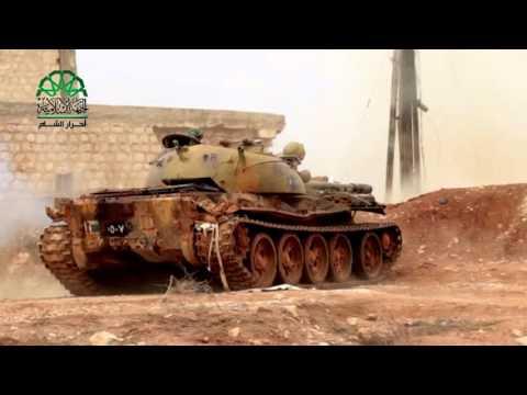 حلب: تدمير تحصينات الميليشيات الطائفية على جبهة تل مصيبين غفريف حلب الشمالي  بقذائف الدبابات