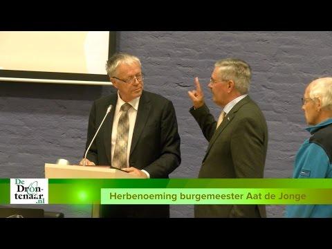 VIDEO   Burgemeester Aat de Jonge benoemd voor derde periode van 6 jaar