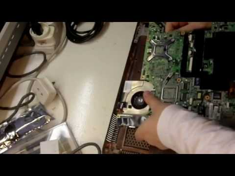 Fix it yourself, HP DV9000 DV9500 laptop motherboard removal.flv