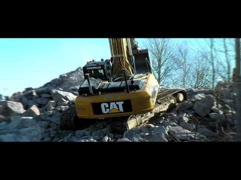 cat 330 problem getting up the rocks caterpillar excavator crawler hill climb
