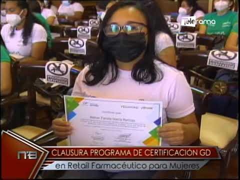 Clausura programa de certificación GD en retail farmacéutico para mujeres