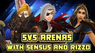 Evylyn Arenas w Sensus  Rizzo 5v5 pwnage go fecking ham wow mop 5.4 warrior rogue mage pvp