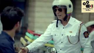 Akshay turns traffic cop to promote road safety