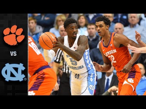 Clemson vs. North Carolina Basketball Highlights (2017-18) (видео)