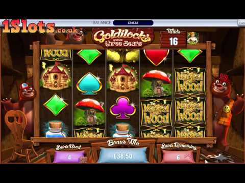 £5 spins on Magical Wood. Goldilocks & The 3 bears 4 symbol feature..
