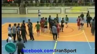 دعوا و کتک کاری در فوتبال دست اول و فوتسال ایران