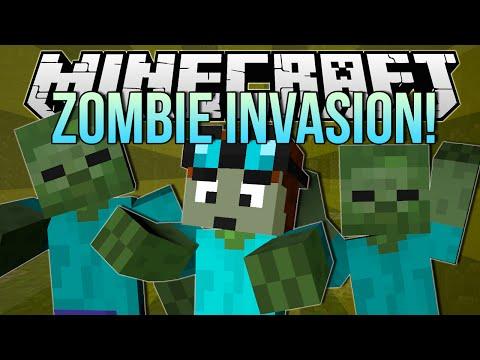 ZOMBIE INVASION | Minecraft: Blocking Dead Minigame!