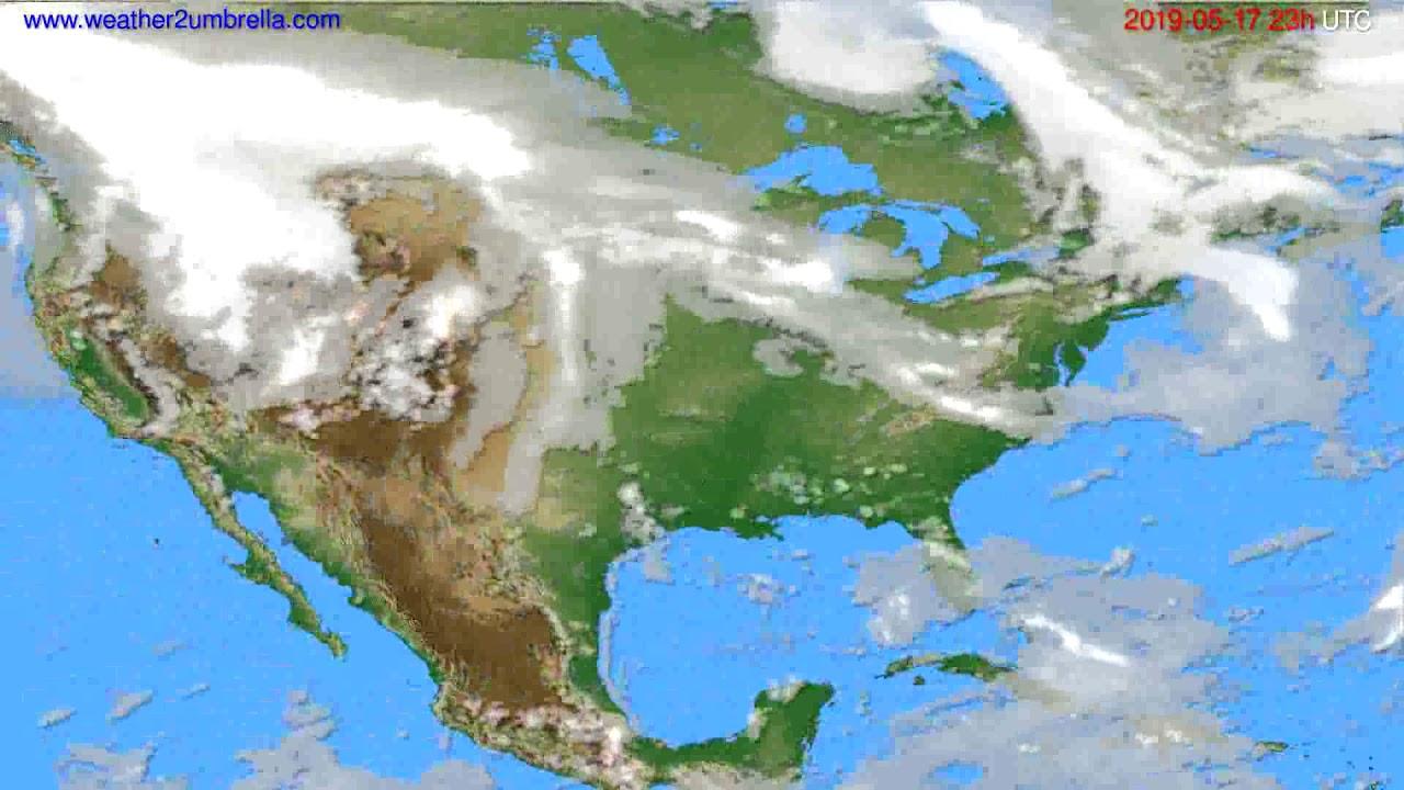 Cloud forecast USA & Canada // modelrun: 12h UTC 2019-05-14