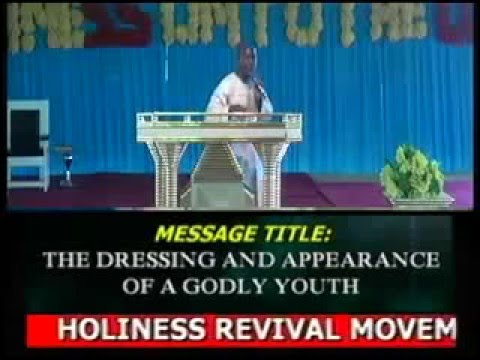 THE DRESSING AND APPEARANCE OFA GODLY YOUTH By Pastor Jibrin Apo1