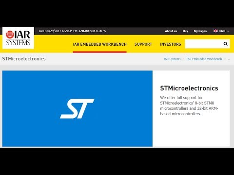 IAR IDE with STM32
