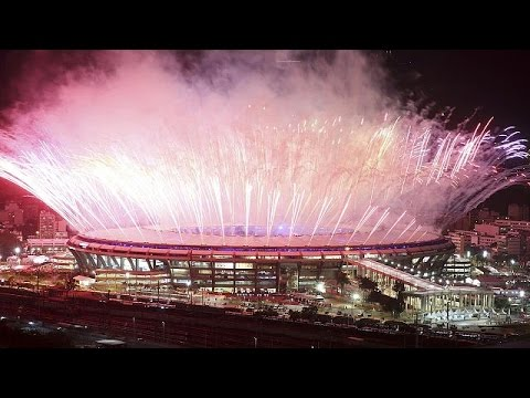 Olympische Spiele 2016 in Rio de Janeiro feierlich er ...