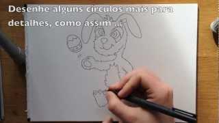 Como Desenhar O Coelhinho Da Páscoa - Fácil Passo A Passo