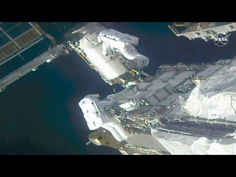 Live: Astronauts Conduct Spacewalk To Upgrade International Space Station | NBC News