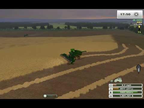 Farming Simulator Saturday:  John Deere Barley Harvest