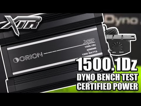 ORION XTR 1500.1Dz DYNO BENCH TEST CERTIFIED POWER