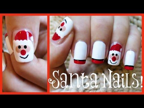 Santa Nail Art!!! | MissJenFABULOUS