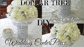 DIY DOLLAR TREE BLING FLORAL WEDDING CENTERPIECE 2017 | PETALISBLESS🌹
